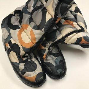 Coach Signature Jolt Snow Boots- Size 8